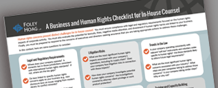A Business and Human Rights Checklist for In-House Counsel