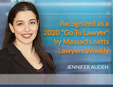 Jennifer Audeh Recognized as a Go To Lawyer by Massachusetts Lawyers Weekly