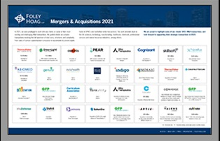 Foley Hoag 2018 Mergers & Acquisitions